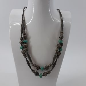 Southwest style necklace with turquoise stones